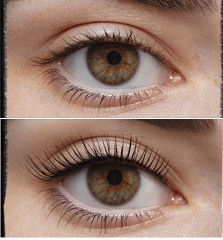 LVL Lashes - Before and after