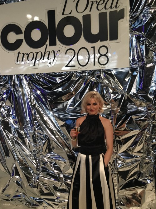 Hayleigh Davidson at the L'Oreal Colour Trophy 2018 semi finals in London.