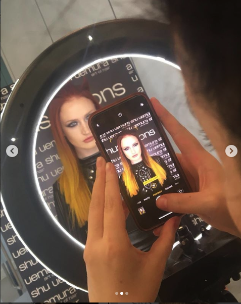 Our gorgeous model Megan showing off her beautiful Autumn coloured locks!
